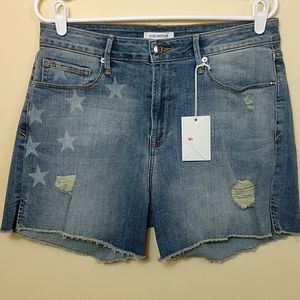 Good American Stars & Stripes Cutoff Shorts 12/31